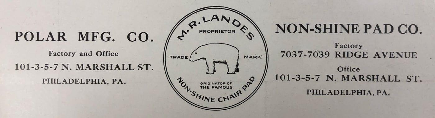 Polar MFG. Co. & Non-Shine Pad Co. Addresses and Logo