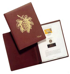 Wine List Covers by Polar Leather Accessories